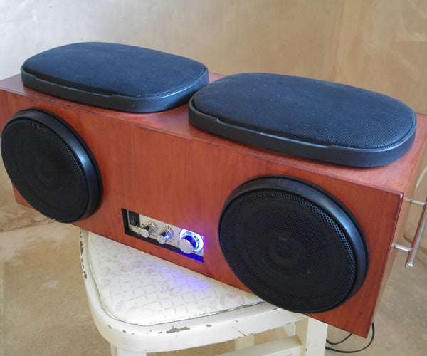 Speaker Set Made From Reclaimed Car Speakers