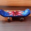 DIY Miniature Skateboard Made With Recycled Materials