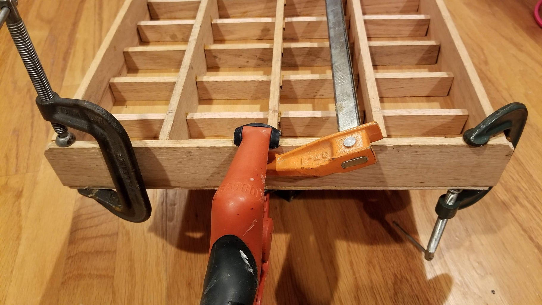 Attaching the Two Sides and Staining the Wood