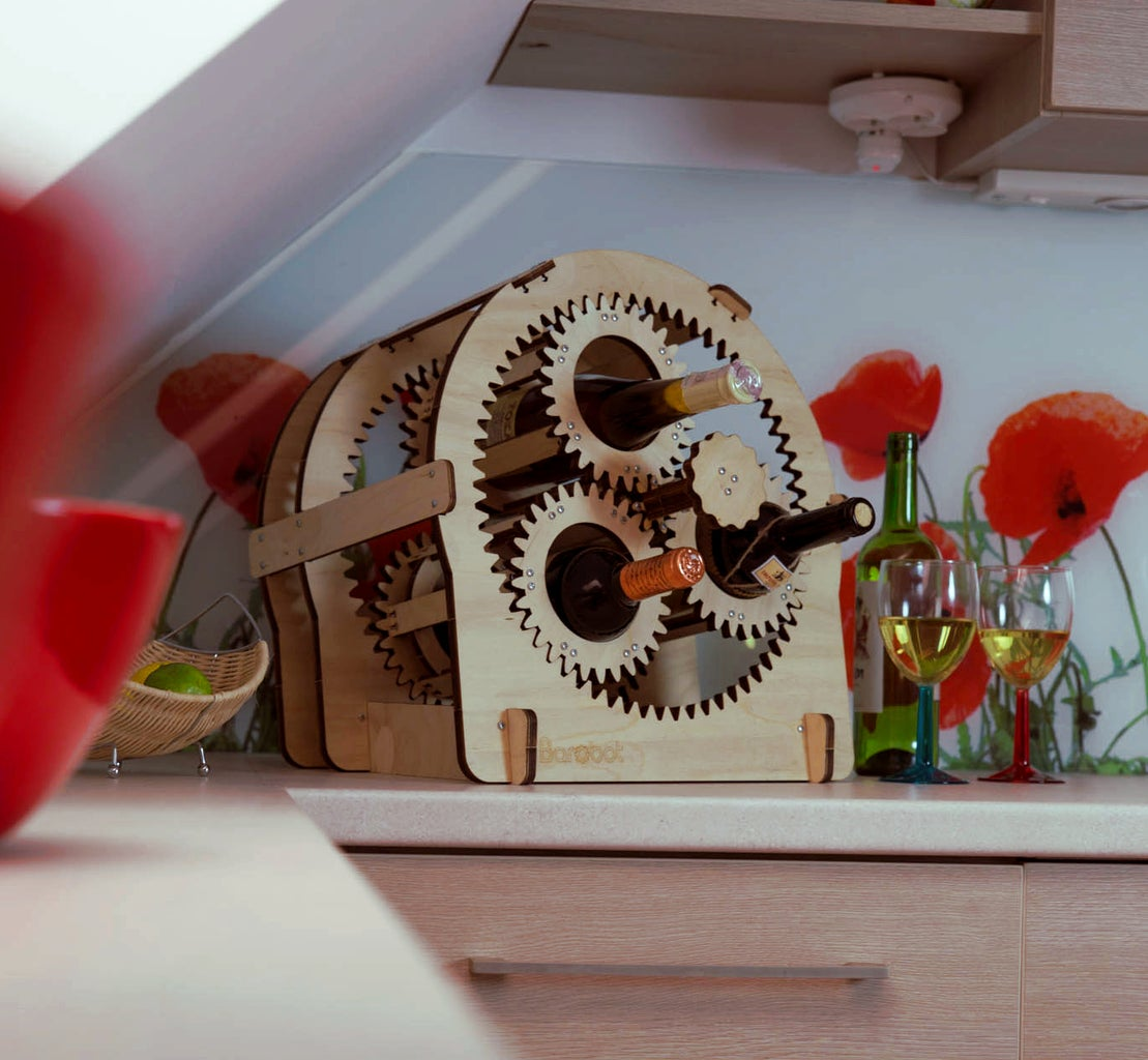 Planetary Gear Wine Stand