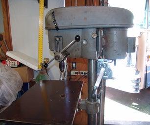 Drill Press Table Enlargement & Drill Press Table Winch