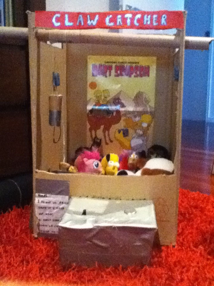 Cardboard Claw Machine