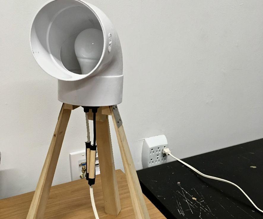 One Dollar Desk Lamp
