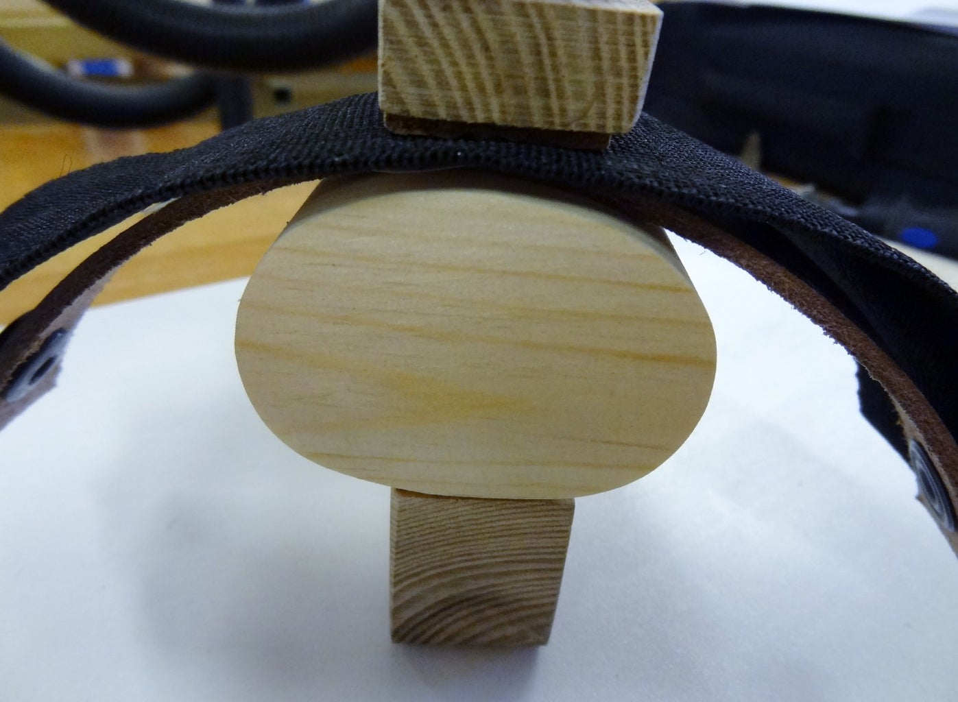 Mount the Plate on Leather Strip