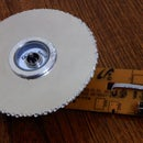 Simple Circular Saw with Hard disk Platter and CDRom DC-Motor