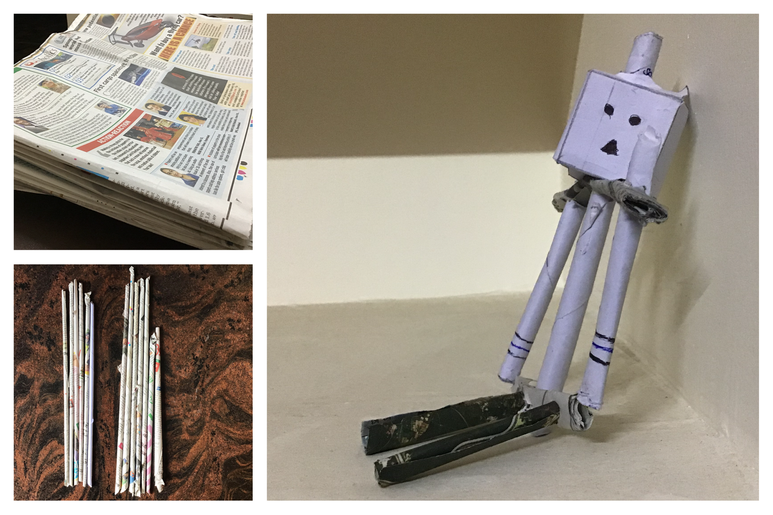 Old Newspapers to a Piperoid Robot!