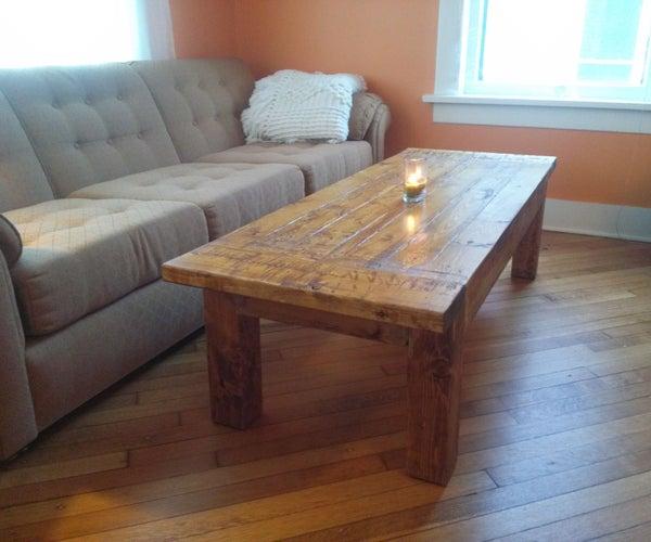 Beautiful Inexpensive Rustic Coffee Table