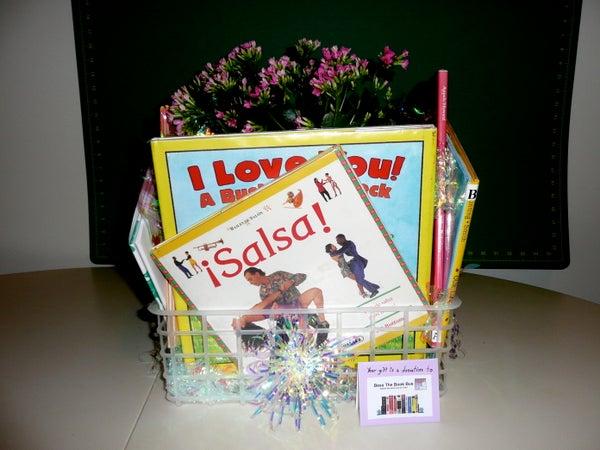 Book Basket Centerpiece