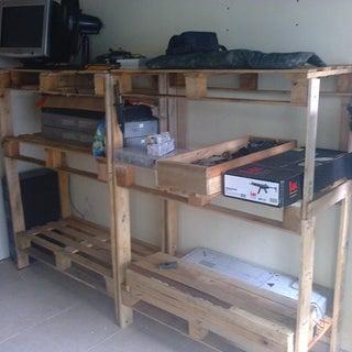 Wood Pallet Storage Shelving CHEAP!