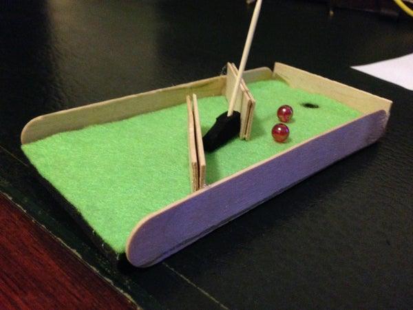 Make a Mini Golf Course