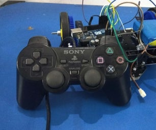 Play Station Remote Controlled Wireless 3D Printed Car