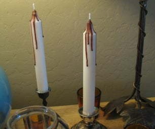 "Halloween ""Bleeding"" Candles"