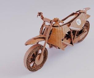 如何制作纸板模型污垢自行车