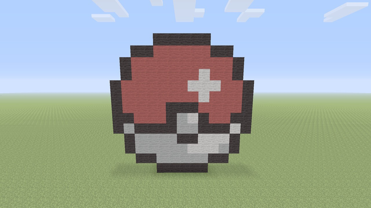 Minecraft Pokeball Pixel Art