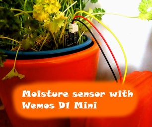 Wireless Moisture Monitor (ESP8266 + Moisture Sensor)