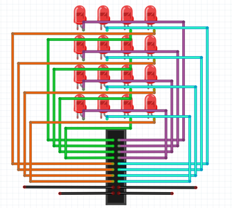 Attach the LED Cube to the Breakout Board