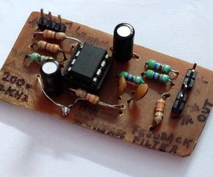 用于低音扬声器的多重反馈带通滤波器