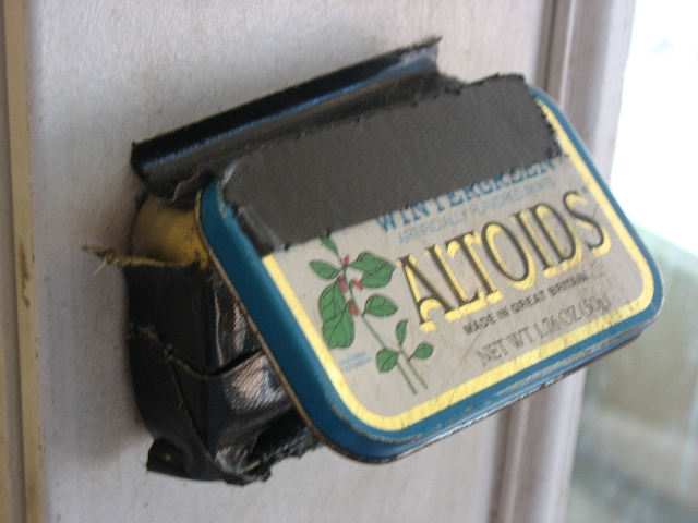 Altoids Tin Doorbell Switch for Dogs