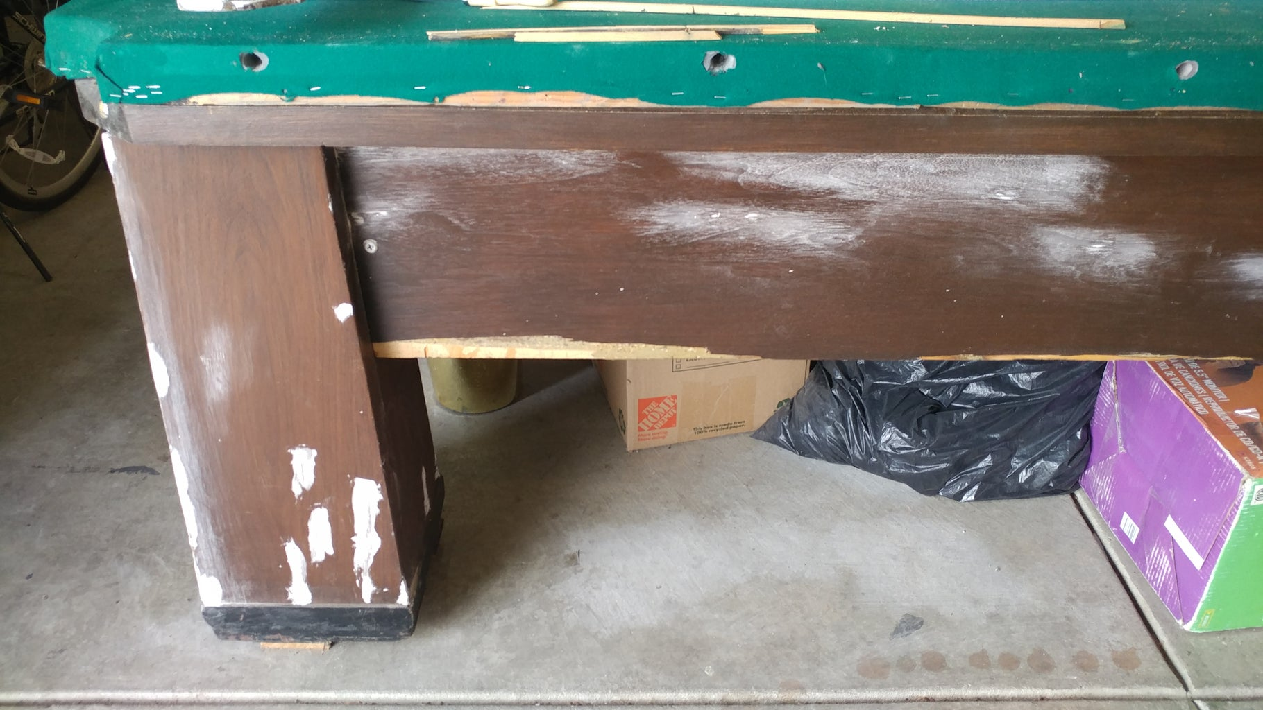 Step 4: Repair the Table Sides and Legs