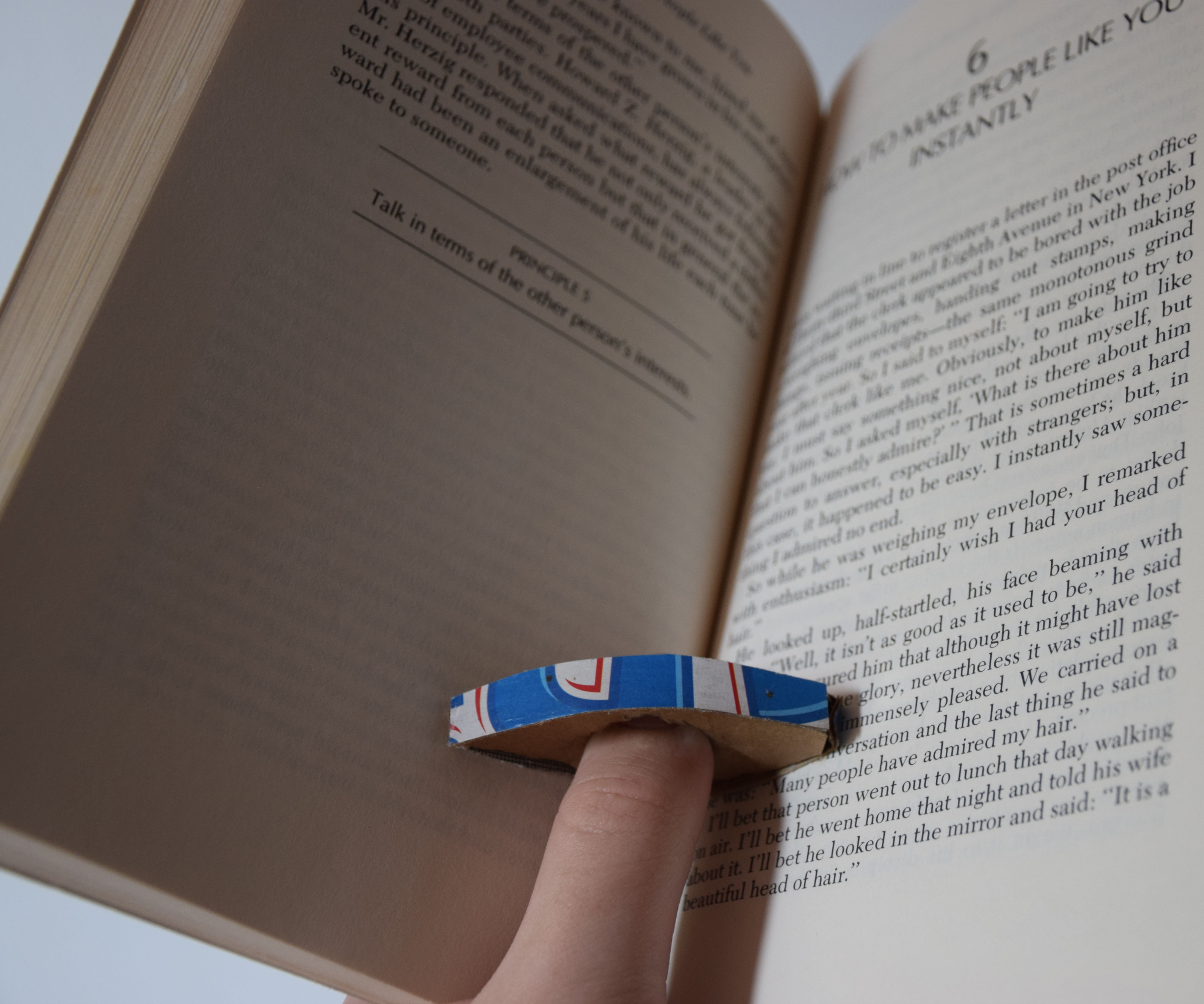 Cardboard Book Page Holder