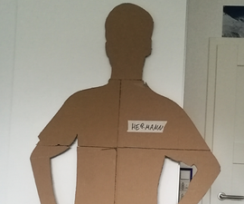 Scaring People With a Cardboard Cutout of Myself