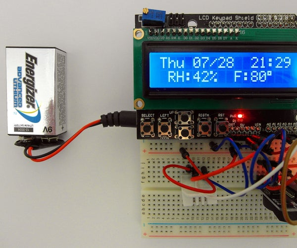 Day of the Week, Calendar, Time, Humidity/Temperature With Battery Saver