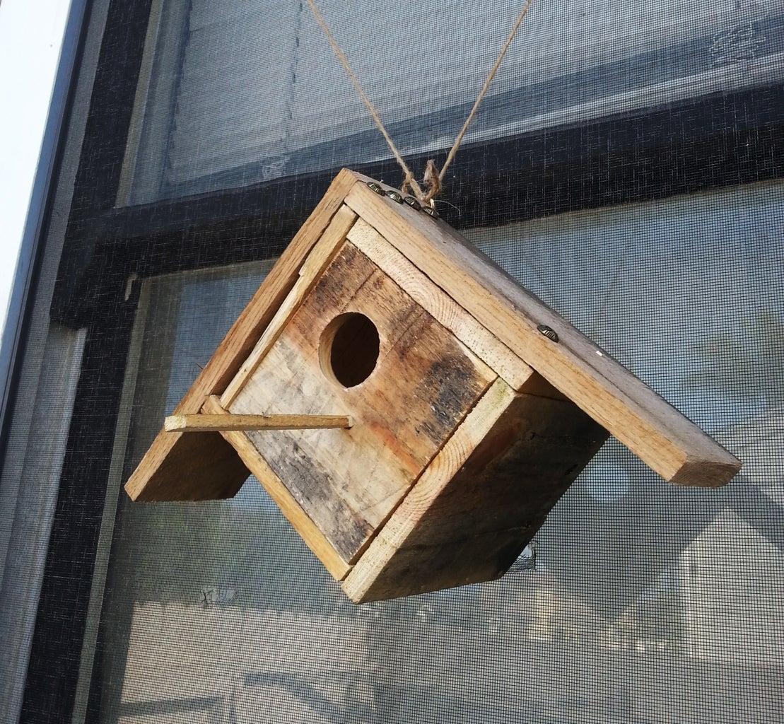 See Thru Pallet Birdhouse