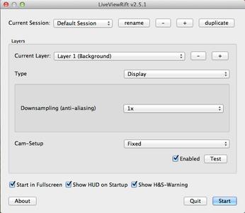 Configure Live View Rift (I)