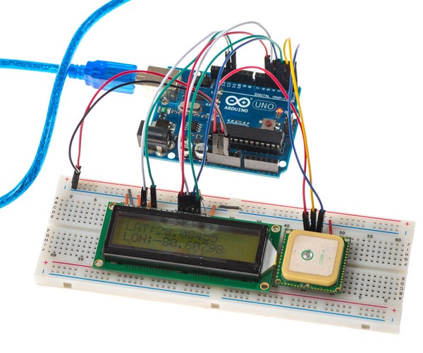 Displaying GPS Location on a LCD Screen