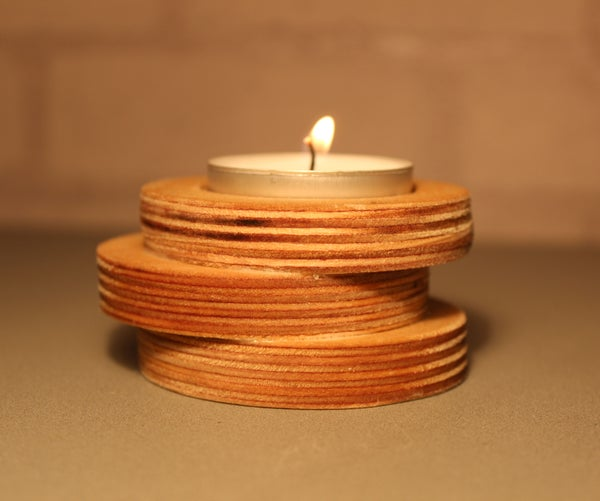 Easy to Do Wooden Candle Holder