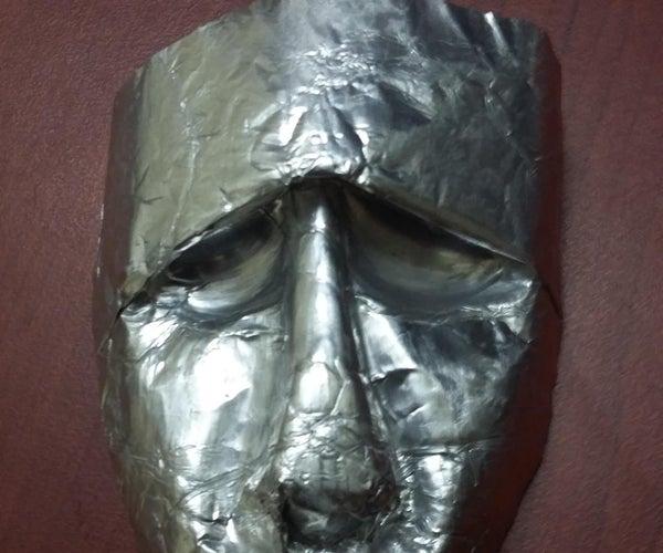 Tinfoil Human Face