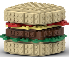 How to Make a Krabby Patty Burger Out of LEGOs - Krusty Krab Build Tutorial