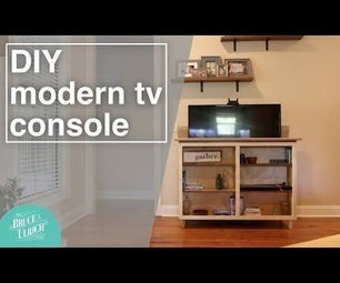 How to Make a Modern TV Console With a Motorized Lift