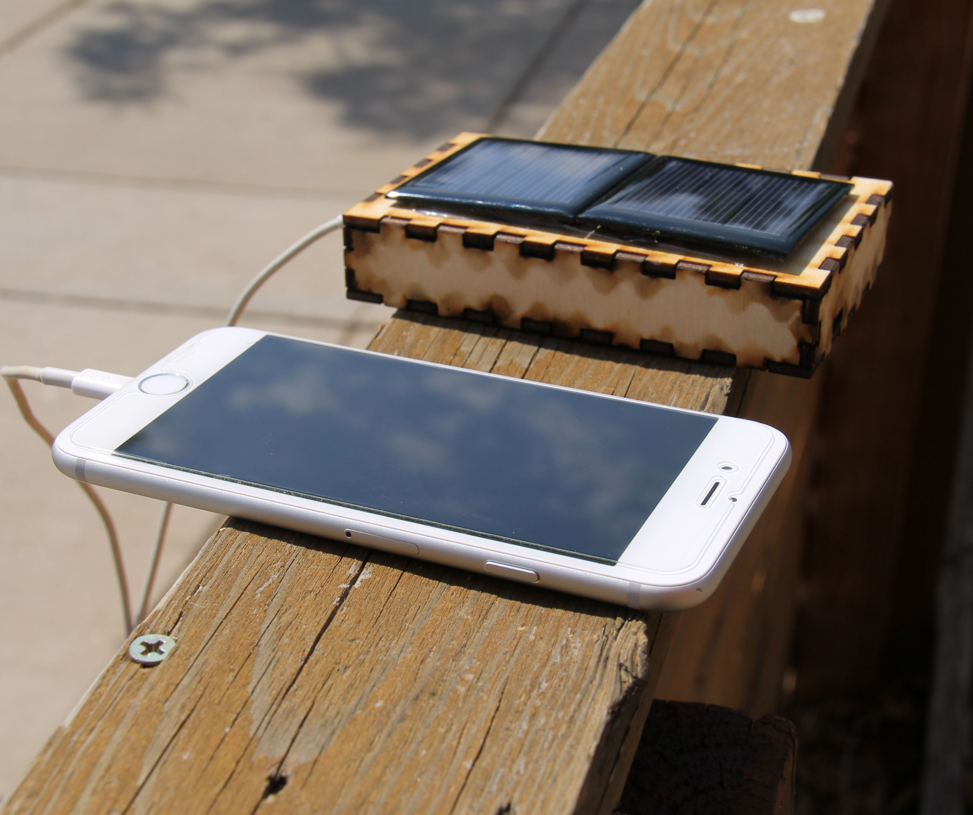 Solar USB Charger for Smartphones (including an iPhone)