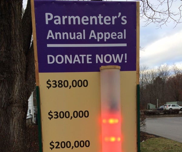 Dazzling Fundraising Sign: 140 Watts of Internet Connected LEDs