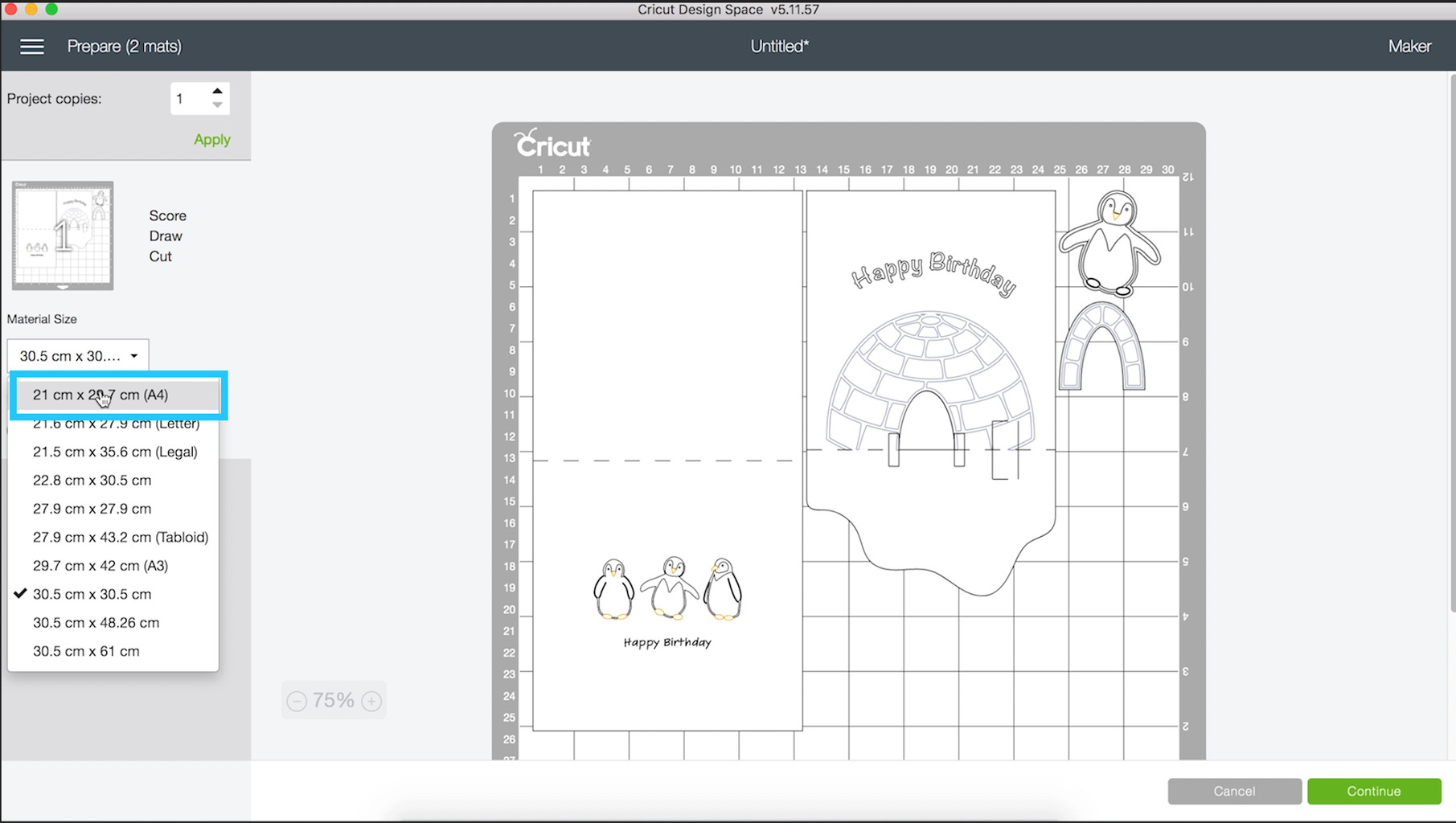Automatically Draw and Cut the Shapes