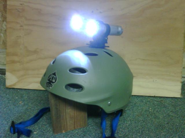 Quick attach, adjustable, no cost helmet light mount!