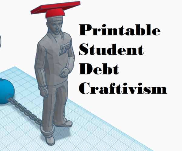 3D Printable Student Debt Craftivism