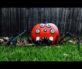 Animated Pumpkin With Motion Sensor