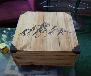 Leather Tools Wooden Box