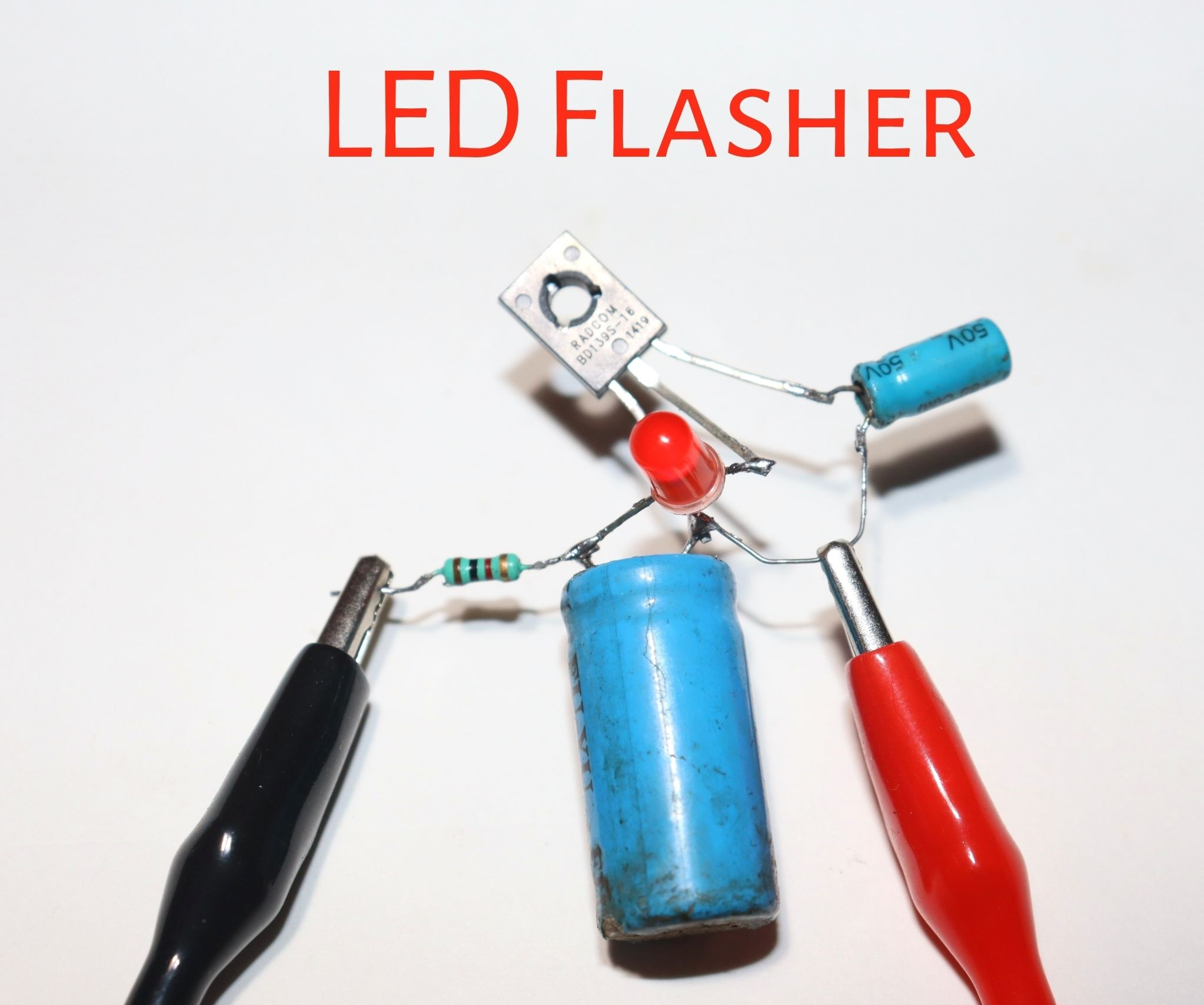 How to Make LED Flasher Circuit Using BD139 Transistor