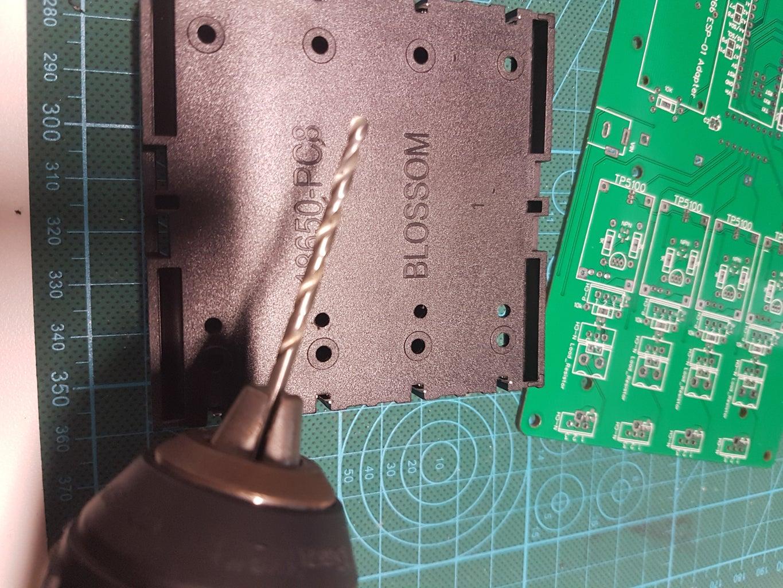 Drill DS18B20 Temperature Sensor Clearance Holes