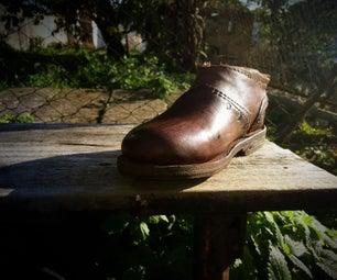 手工缝制拉普鞋