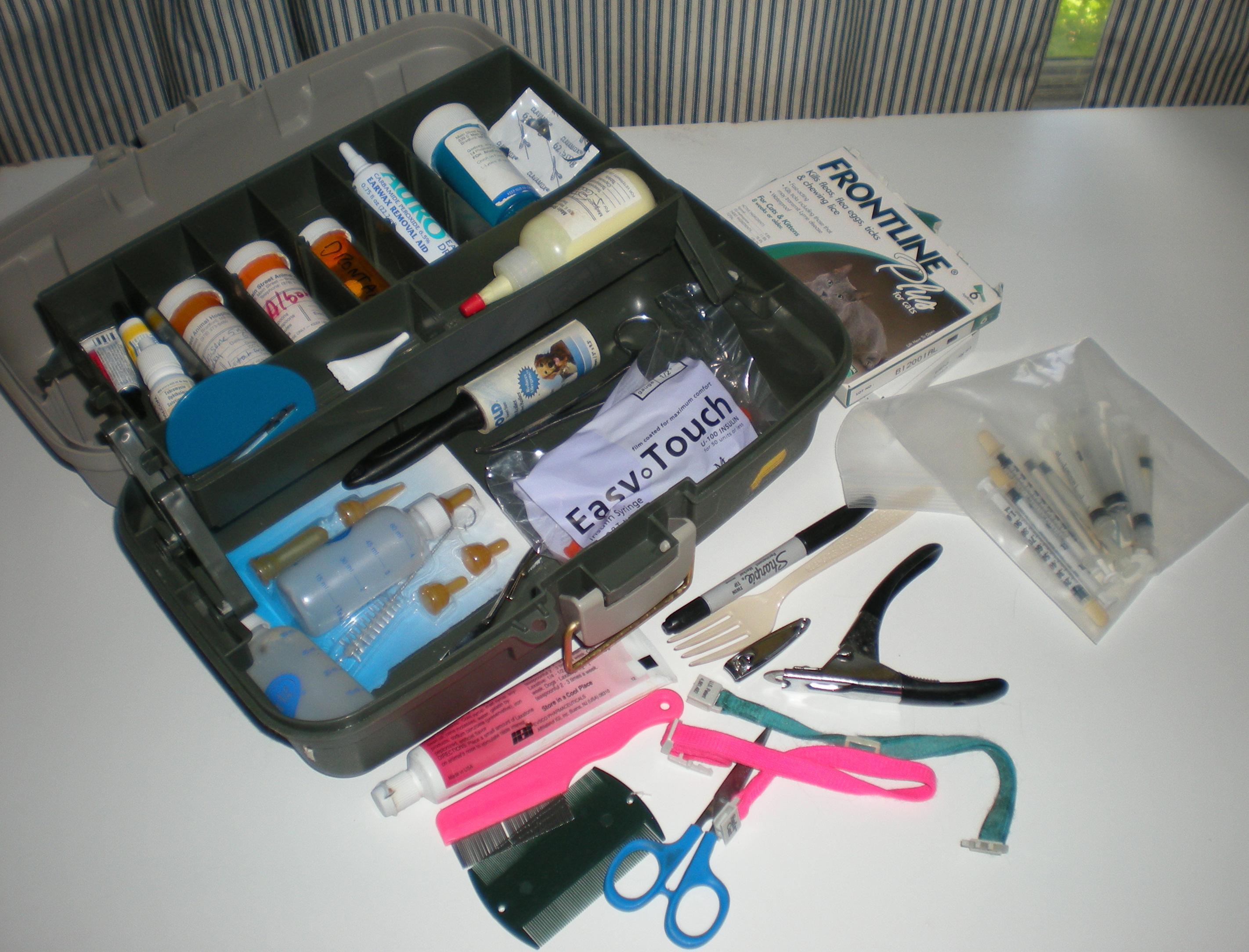 Pet Home Medical Kit or Animal Rescue kit