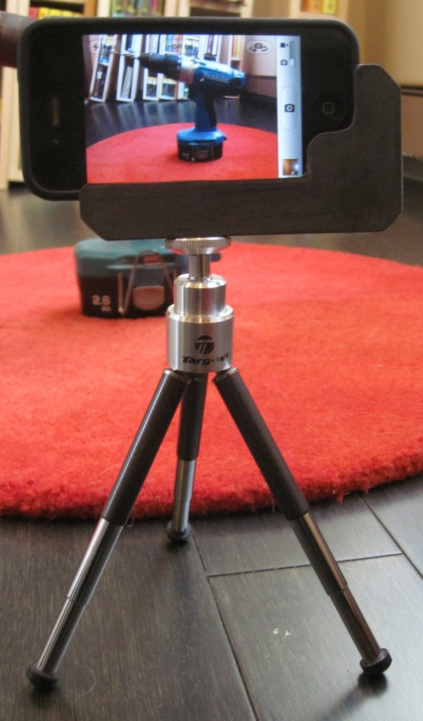 Smartphone Tripod Adapter From Found Materials