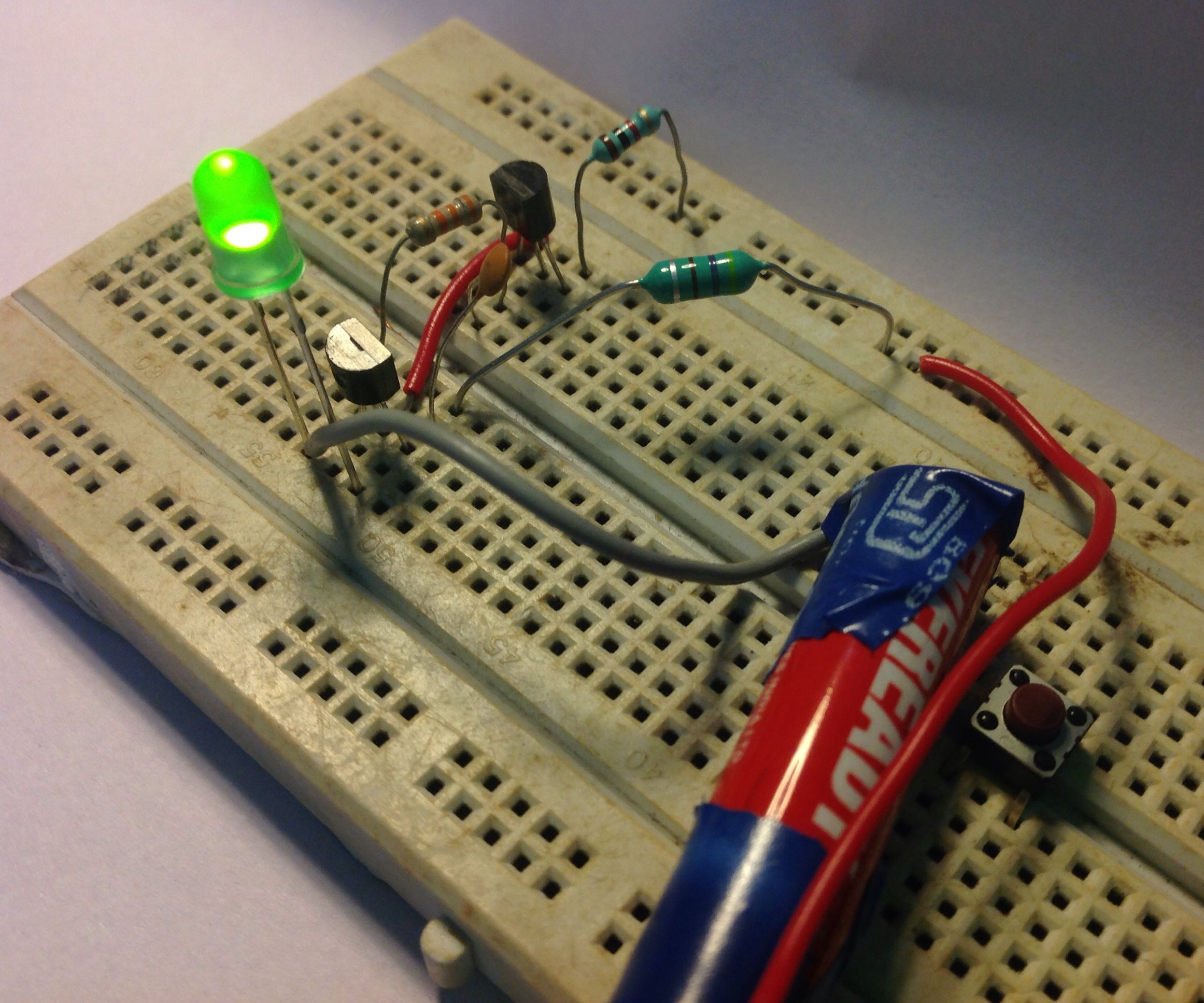 Super Simple Inductor Joule Thief!