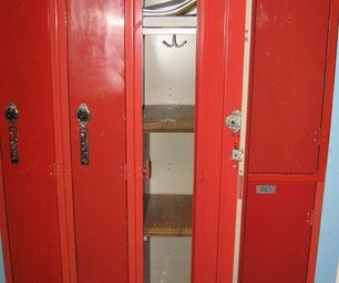 Wooden Locker Shelf