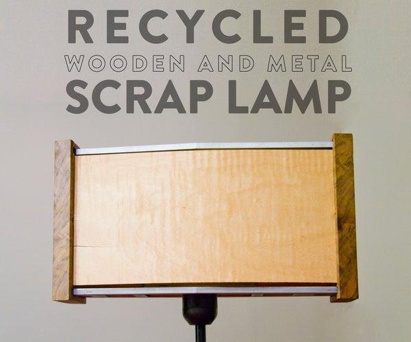 Recycled Wooden & Metal Scrap Lamp