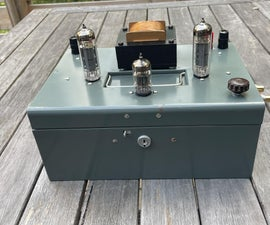 Stereo Tube Amp Built Into a Vintage Cashbox