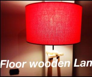 Floor Wooden Lamp